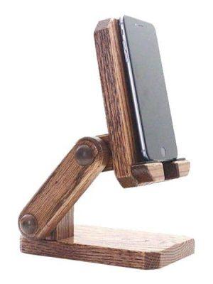 پایه و نگهدارنده گوشی مدل چوبی