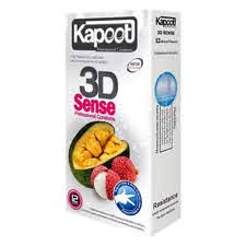 کاندوم سه بعدی کاپوت مدل 3DSense با رایحه توت فرنگی