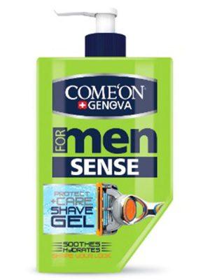 ژل اصلاح مردانه کامان مدل Sense مخصوص پوست حساس