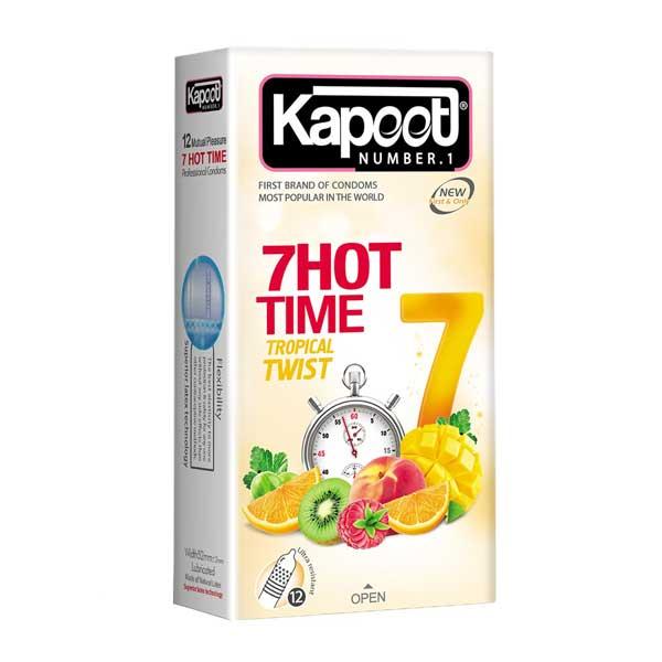 کاندوم هفت کاره تاخیری و میوه ای و خاردار کاپوت مدل 7Hot Time
