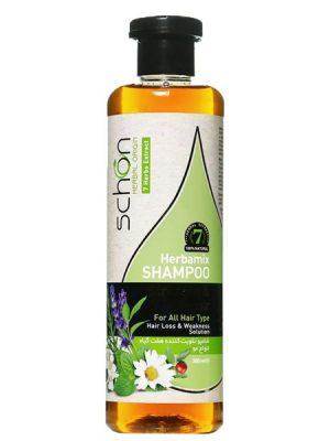 شامپو تقویت کننده هفت گیاه شون مناسب موهای مستعد ریزش