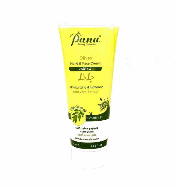 کرم مرطوب کننده زیتون پانا مدل Olive Oil حاوی آلوئه ورا و ویتامین C