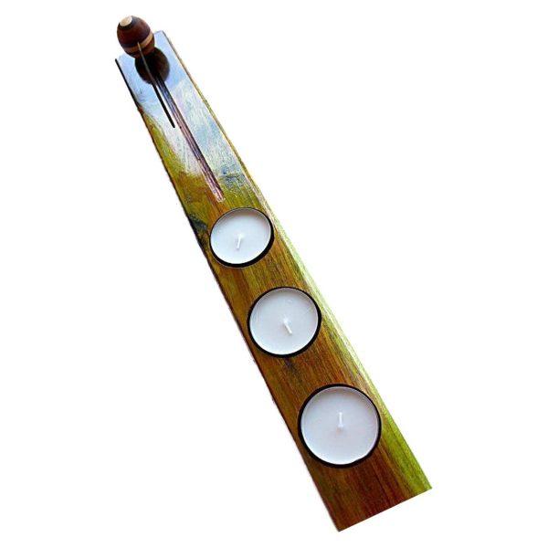 جاعودی و جا شمعدان دست ساز چوبی