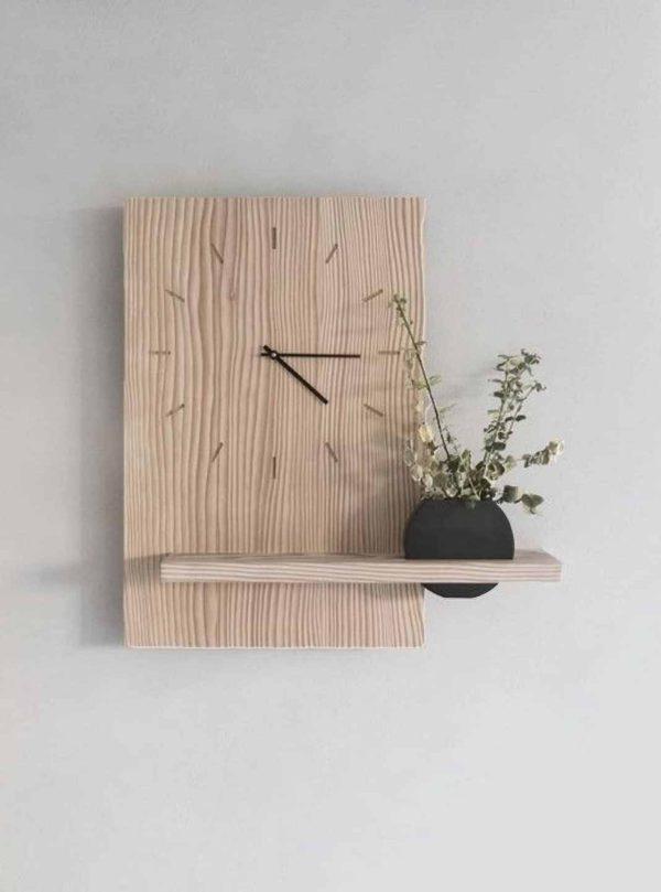 ساعت دیواری دایره ای چوبی