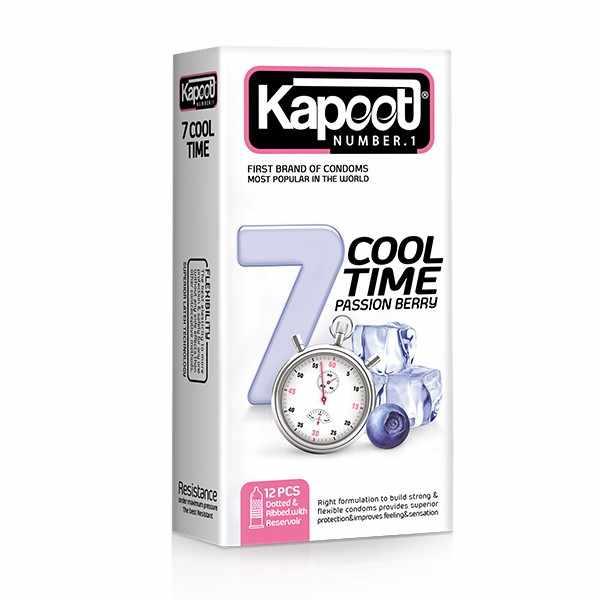 کاندوم هفت کاره سرد تاخیری و میوه ای کاپوت مدل 7cool Time